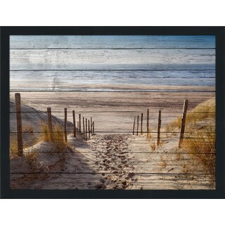 Path To Ocean Giclee Wood Wall Decor