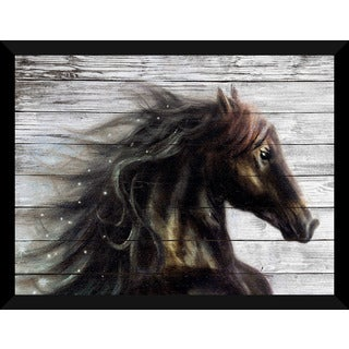 Horse' Giclee Wood Wall Decor