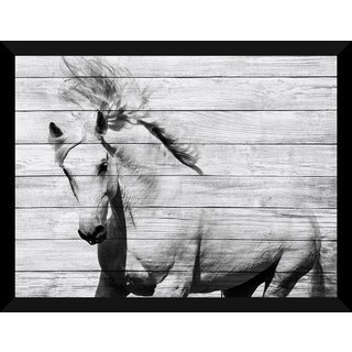 Horse Running' Giclee Wood Wall Decor