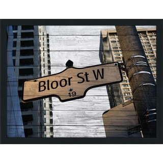 Bloor Street West, Toronto' Giclee Wood Wall Decor