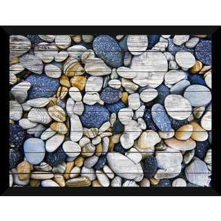 Water Stones 16' Giclee Wood Wall Decor