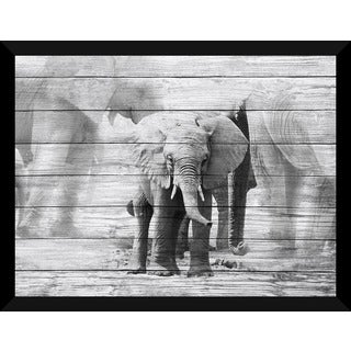 Baby Elephant Giclee Wood Wall Decor