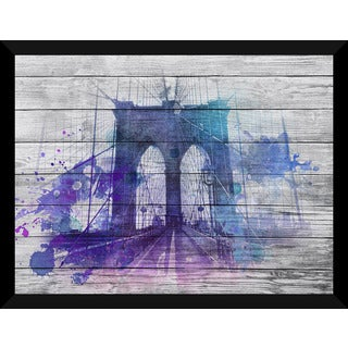 Brooklyn Bridge Copy' Giclee Wood Wall Decor