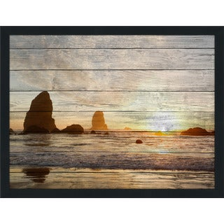 By The Shore Giclee Wood Wall Decor