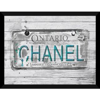 BY Jodi 'Ontario Chanel Plate 2' Giclee Wood Wall Decor