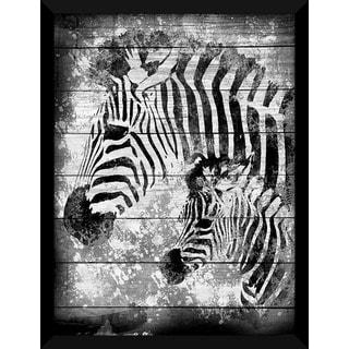 Zebras' Giclee Wood Wall Decor