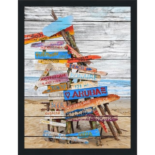 Beach Signs' Giclee Wood Wall Decor