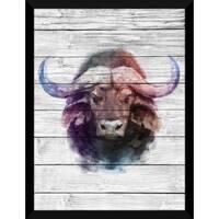 Bull Giclee Wood Wall Decor