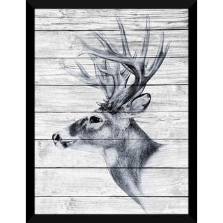 Deer Sketch' Giclee Wood Wall Decor