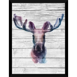 Elk' Giclee Wood Wall Decor