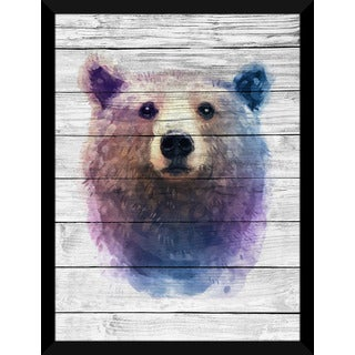 Bear' Giclee Wood Wall Decor