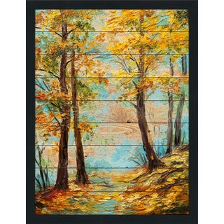 Autumn Trees' Giclee Wood Wall Decor