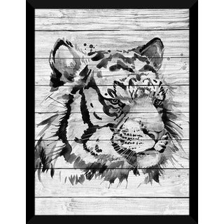 White Tiger' Giclee Wood Wall Decor