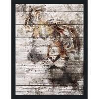 Tiger Giclee Wood Wall Decor