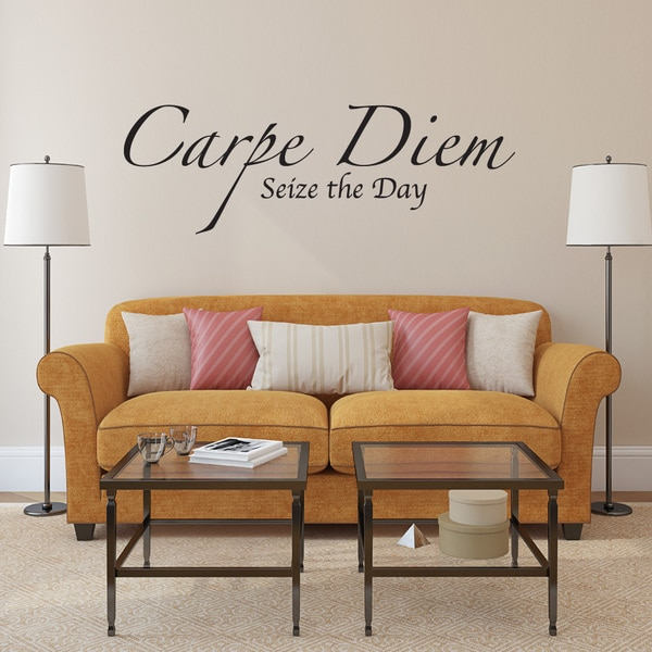 Carpe Diem Wall Decal Vinyl Art Home Decor