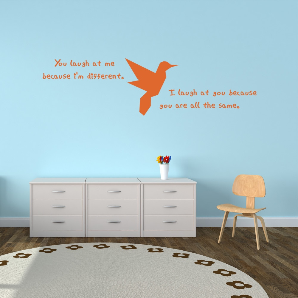 Shop Different Wall Decal Vinyl Art Home Decor Quotes And Sayings Overstock 11692658