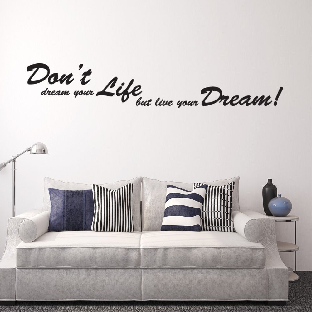 Dreams Wall Decal Vinyl Art Home Decor Quotes And Sayings Overstock 11692662