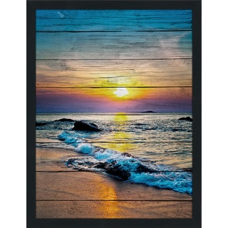Sunset Splendor 3' Giclee Wood Wall Decor