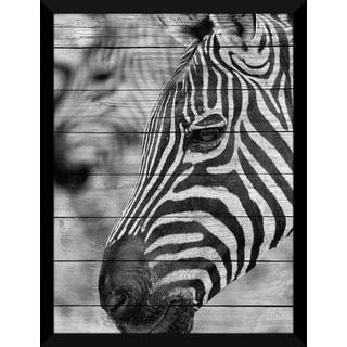 Zebra' Giclee Wood Wall Decor