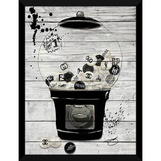 BY Jodi 'Bubblicious In Black' Giclee Wood Wall Decor