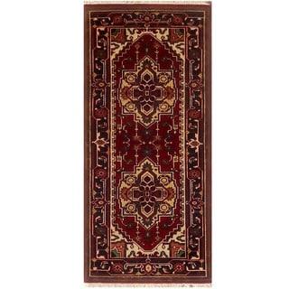 Herat Oriental Indo Hand-knotted Serapi Wool Runner (2'7 x 6'1)