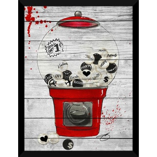 BY Jodi 'Life In Pieces Red' Giclee Wood Wall Decor