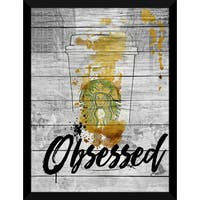 BY Jodi 'Obsessed' Giclee Wood Wall Decor