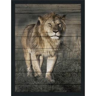 Lion Giclee Wood Wall Decor