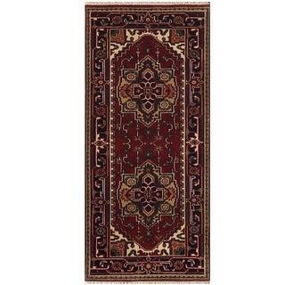 Herat Oriental Indo Hand-knotted Serapi Wool Runner (2'6 x 6')