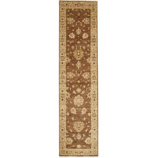 Hand-knotted with Agra Design Runner Rug (2' 6 x 10' 1)