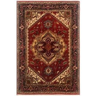 Herat Oriental Indo Hand-knotted Serapi Wool Rug (3'11 x 6'3)