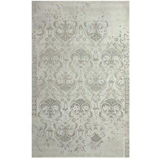 Herat Oriental Indo Hand-tufted Khotan Ivory/ Beige Wool Area Rug (8' x 10')
