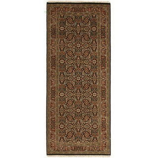 Hand-knotted with Herati Design Runner Rug (2' 6 x 8' 7)