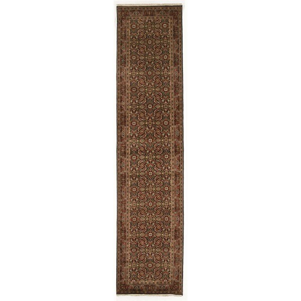 Hand-knotted with Herati Design Runner Rug (2' 9 x 11' 11)