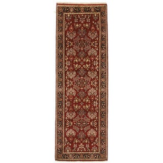 Hand-knotted with Saroukh Design Runner Rug (2' 7 x 7' 11)