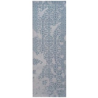 Herat Oriental Indo Hand-tufted Printed Erased Khotan Wool Runner (2'8 x 10')