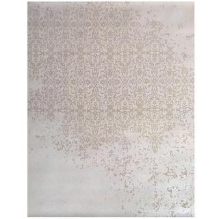 Herat Oriental Indo Hand-tufted Khotan Ivory/ Beige Wool Rug (7'6 x 9'6)