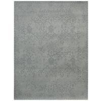 Herat Oriental Indo Hand-tufted Printed Erased Khotan Wool Rug - 7'6 x 9'6