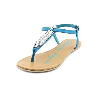 American Rag Women's 'Sari' Faux Blue Leather Sandals