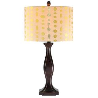 single light espresso brown metal table lamp with outlet base. Black Bedroom Furniture Sets. Home Design Ideas