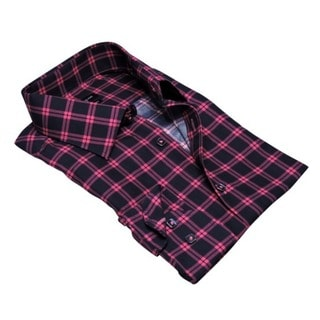 Rosso Milano's Checkered Dress Shirt