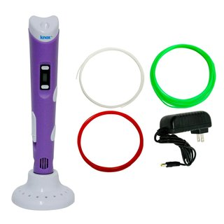 Knox 3D Pen for 3D Drawing, Printing and Doodling with LCD Screen (Purple)