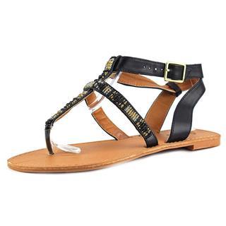 Qupid Women's 'Athena 691' Black Synthetic Sandals