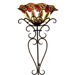 Nadal Stained Glass 28 Inch Tiffany-style Wallchiere Lamp