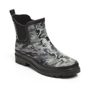 Unsensored Women's Camouflage Waterproof Slip-on Bootie