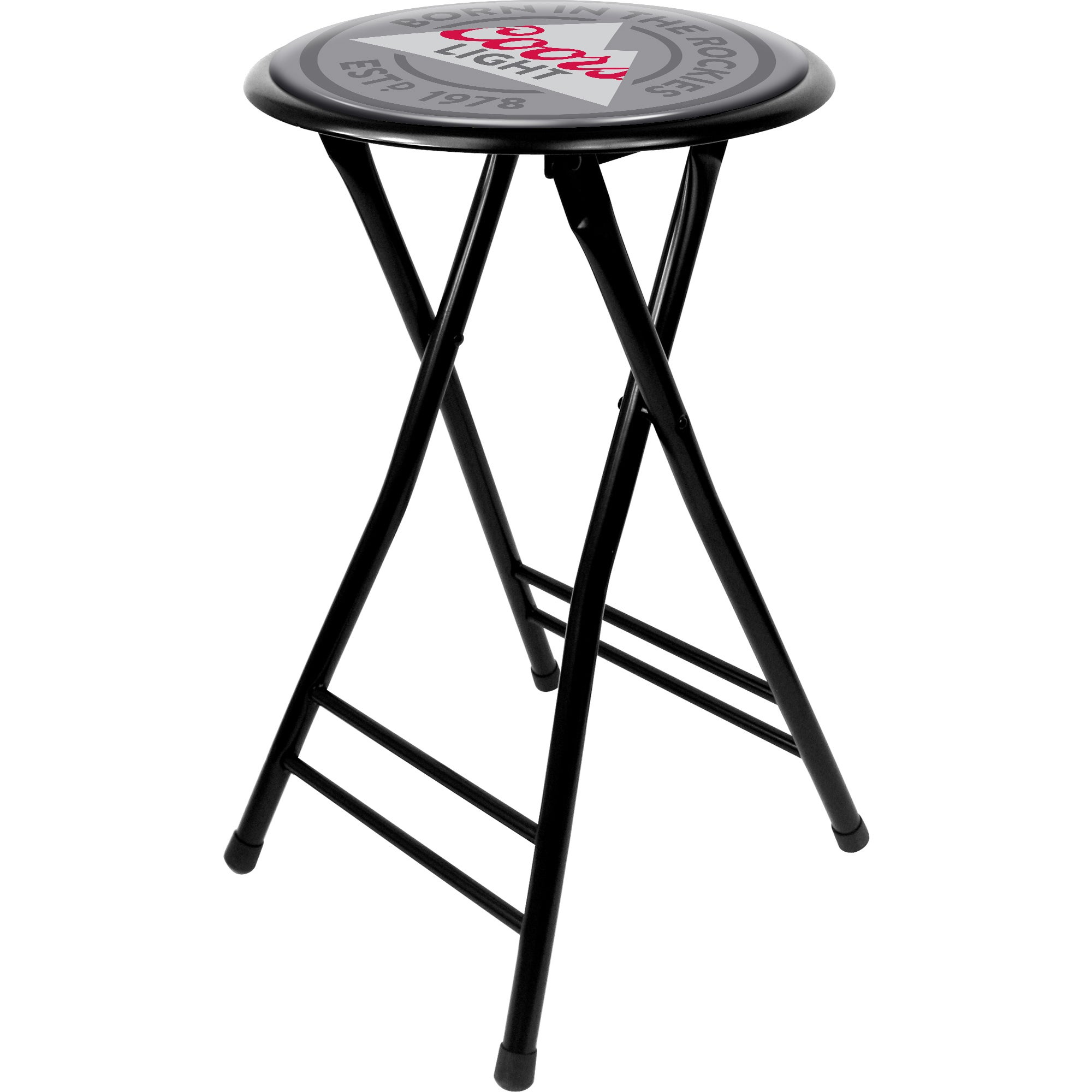 Trademark Coors Light 24-inch Cushioned Folding Stool (24...