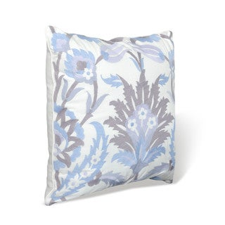 Nostalgia Home Neveah 16-Inches Wide x 16-Inches Long Hyacinth Embroidered Floral Decorative Throw Pillow