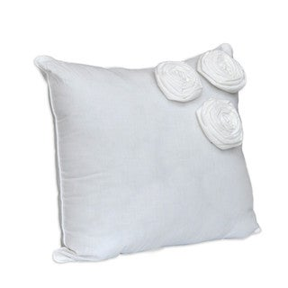 Nostalgia Home Neveah 16-Inches Wide x 16-Inches Long White Decorative Throw Pillow