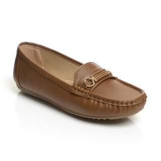 Unsensored Women's Gold Hardware Slip On Loafer