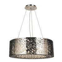 High Gloss 10 light Chrome Finish Clear Crystal 24-in Chandelier